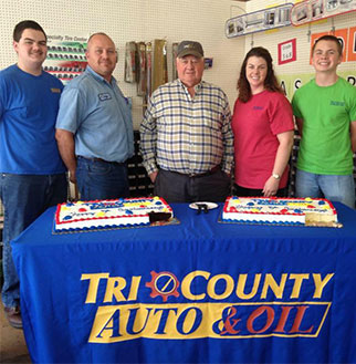 Tri County Auto and Oil Staff Group Photo